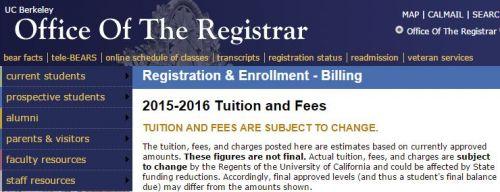加州大学伯克利分校10年州内学费暴涨一倍
