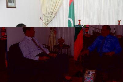 驻马尔代夫大使访问艾哈玛迪亚国际学校