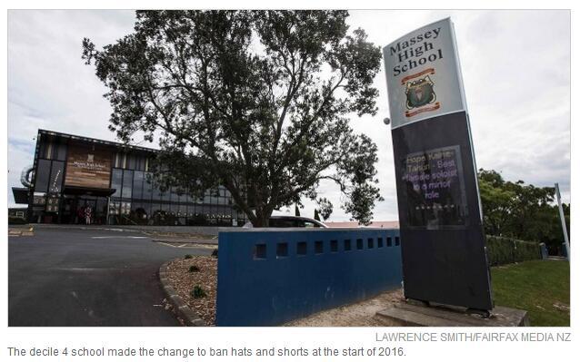 新西兰学校禁止学生穿短裙引抗议