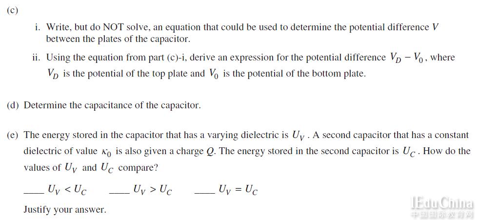2015年AP物理C电磁学真题解析