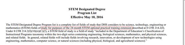 美国STEM专业OPT延长至36个月