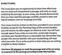 解读新SAT写作步骤