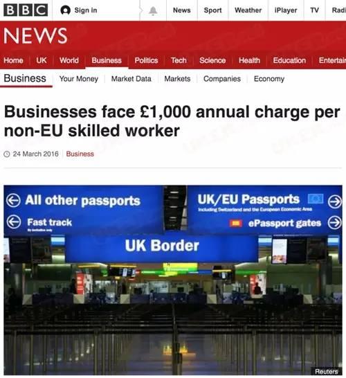 英国政府宣布:留学生毕业工作需缴1000镑