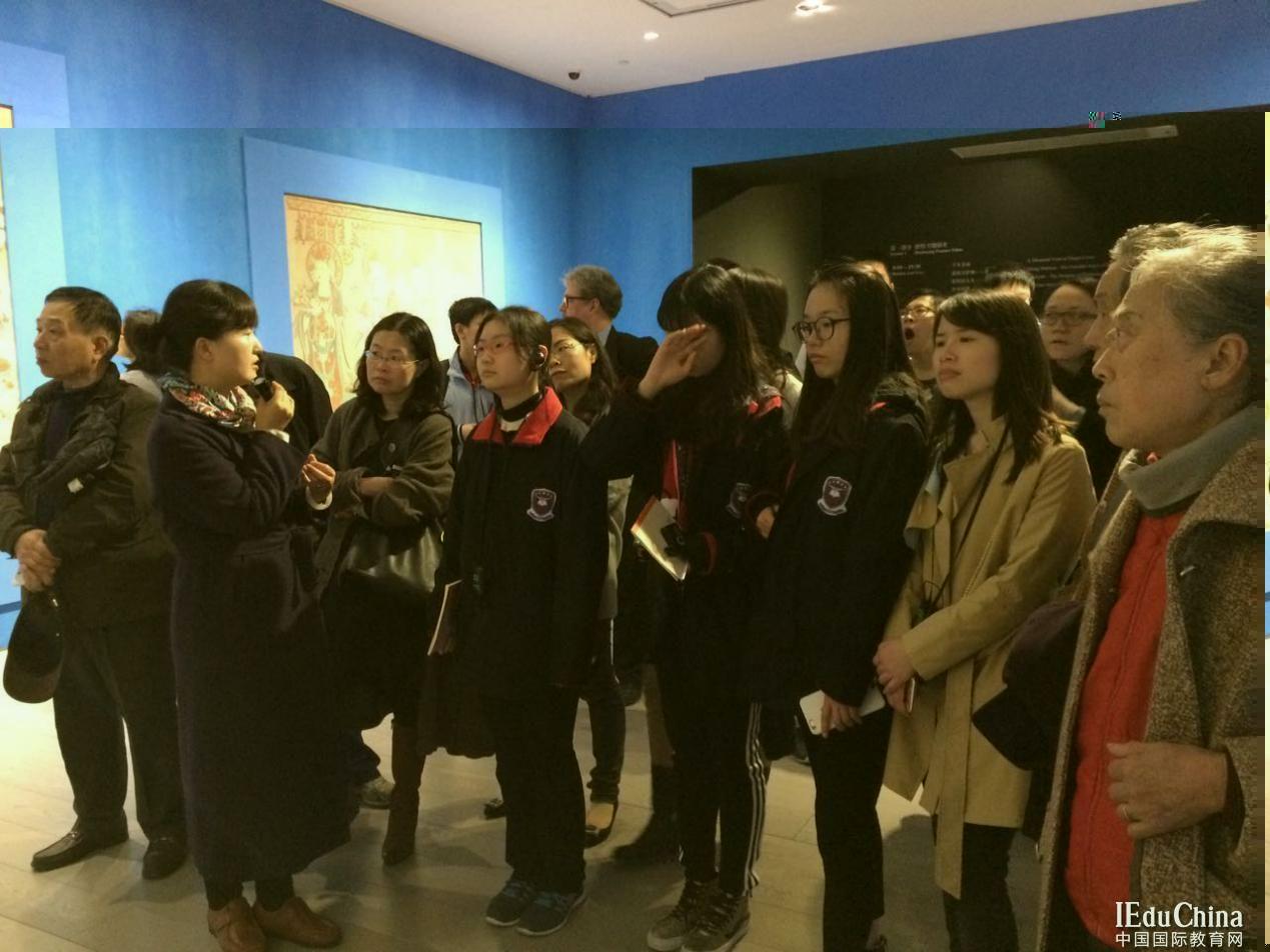 """上海国际学校的爱国教育""""敦煌展"""""""