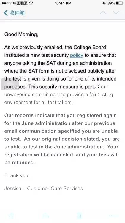 SAT转考:部分考生6月新SAT考试重报又被拒!