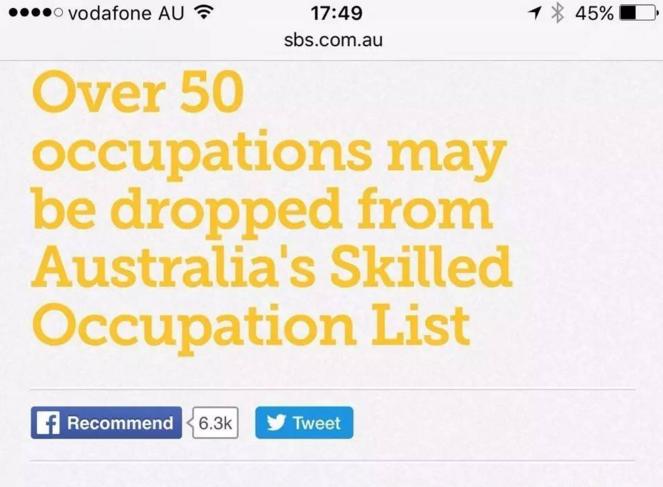 澳洲50多个移民职业被砍掉竟然是谣言?