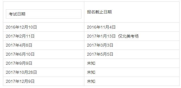 2017托福/SAT/ACT/SSAT/雅思考试时间一览