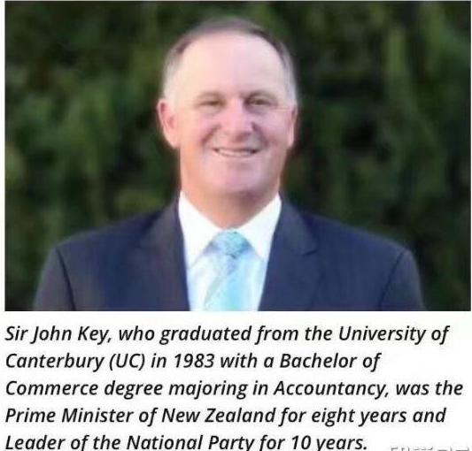坎特伯雷大学十二月将授予新西兰前总理博士学位