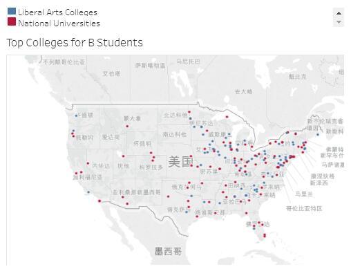 美国B大学顶尖学院都分部在哪
