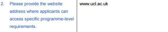 UCL2018预科申请时间公布 申请条件详解